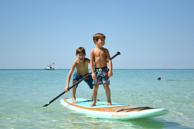 Paddleboarding along Seagrove Beach on 30A