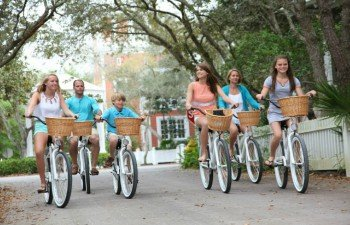 Biking on 30A Seaside